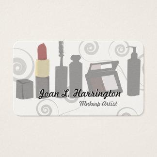 Beauty Cream Eye Shadow Modern Makeup Artist Business Card