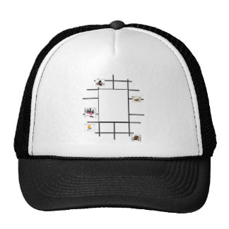 Beauty Divergence Mesh Hats