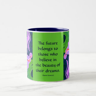 beauty dreams future Two-Tone coffee mug