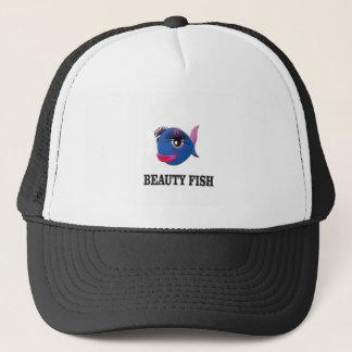 beauty fish trucker hat