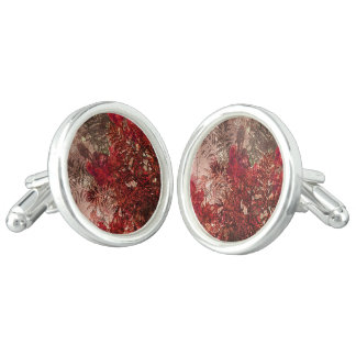 Beauty Floral Collage Cuff Links