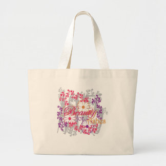 Beauty For Ashes Large Tote Bag