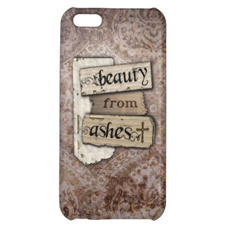 Beauty From Ashes Christian Damask Journaling iPhone 5C Cases