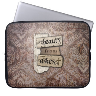Beauty From Ashes Christian Damask Scrap Laptop Sleeve