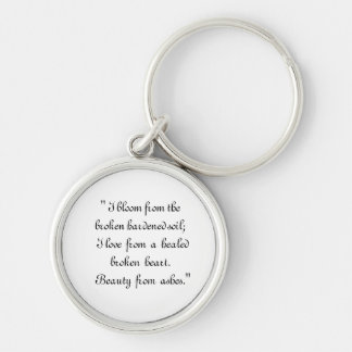 Beauty from  Ashes Silver-Colored Round Key Ring
