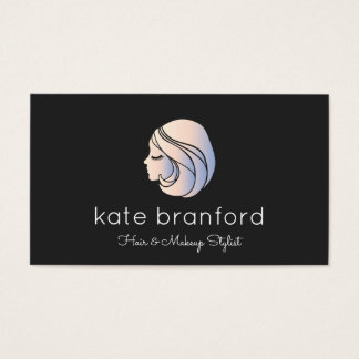 Beauty Girl's Face Cosmetologist Business Card