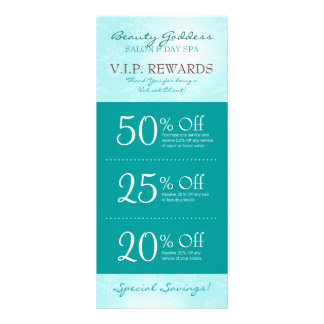Beauty Goddess Salon Coupons Rack Card