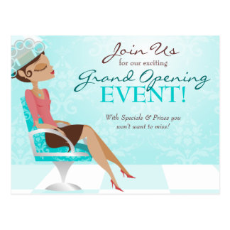 Beauty Goddess Salon Grand Opening Postcard