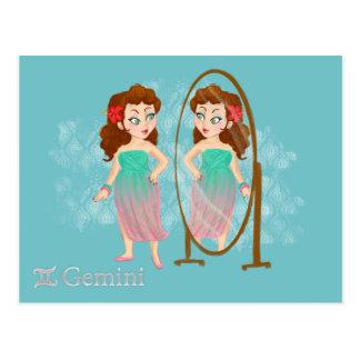 Beauty horoscope - Gemini Zodiac sign Postcard