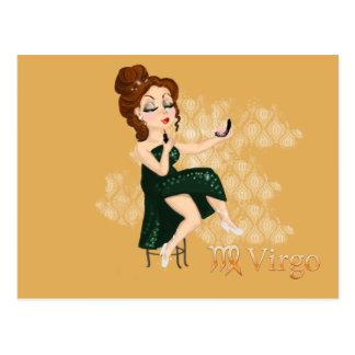 Beauty horoscope Virgo Zodiac sign Postcards