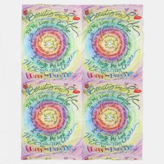 Beauty in Life Cancer Poem Art Soft Fleece Blanket