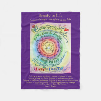 Beauty in Life Cancer Poem Chemo Fleece Blankets