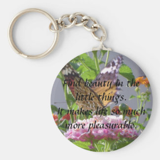 Beauty in little things basic round button key ring