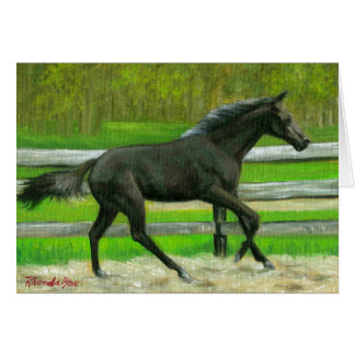Beauty In Motion Quarter Horse Blank Card