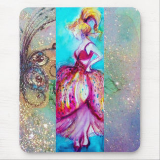 BEAUTY IN PINK DRESS / Magic Butterfly Plant Mousepads
