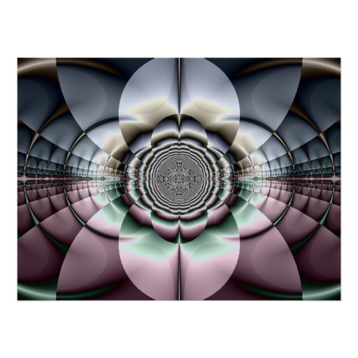 Beauty In Rose Silver Poster