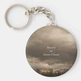 Beauty in Storm Clouds Basic Round Button Key Ring