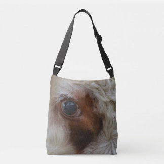 Beauty In The Eye Of The Beholder Cow Crossbody Bag