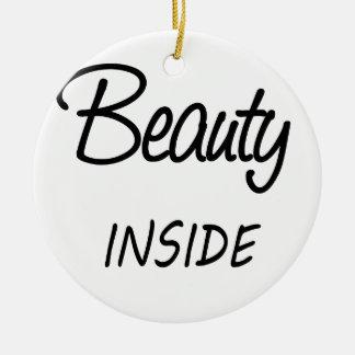 beauty inside ceramic ornament