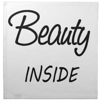 beauty inside napkin