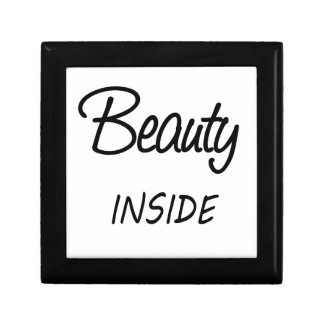 beauty inside small square gift box