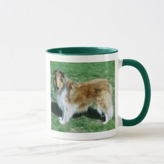 BEAUTY IS A ROUGH COLLIE MUG