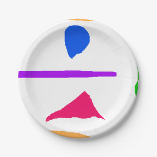 Beauty Is an Illusion Paper Plate