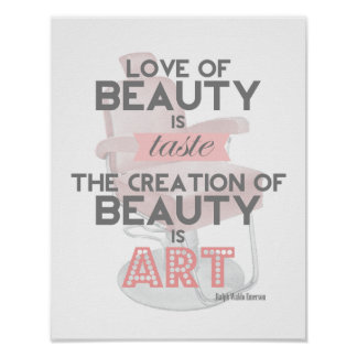 Beauty is Art Retro Quote Stylist Salon Print