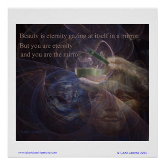 Beauty is eternity poster