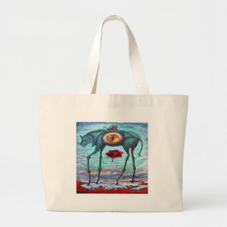 Beauty is in the eye of the Beholder Large Tote Bag
