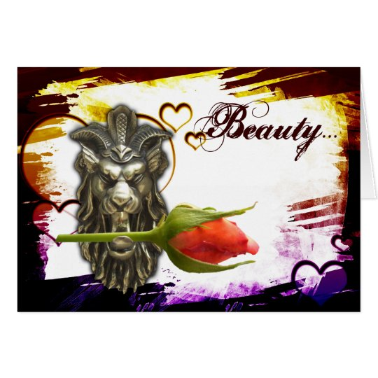Beauty...Let me be your beast!! romantic card