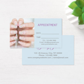 beauty manicure nail salon Appointment Business Card