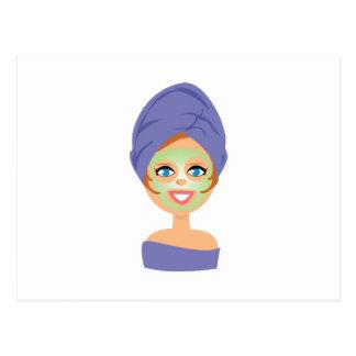 Beauty Mask Postcard