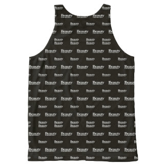 Beauty Moments Phrase Pattern All-Over Print Singlet