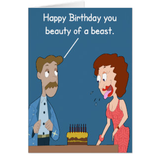 Beauty Of A Beast Birthday Card. Card