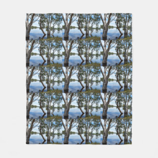 Beauty Of A Gum Tree Medium Fleece Blanket.