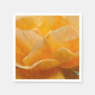 Beauty Of A Rose Painterly Disposable Napkin