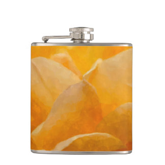 Beauty Of A Rose Painterly Hip Flask