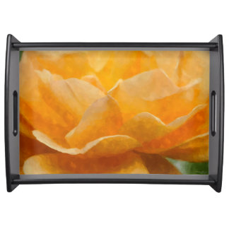 Beauty Of A Rose Painterly Serving Tray