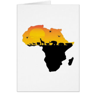BEAUTY OF AFRICA CARD