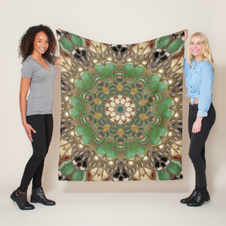 Beauty Of Jade. Fleece Blanket