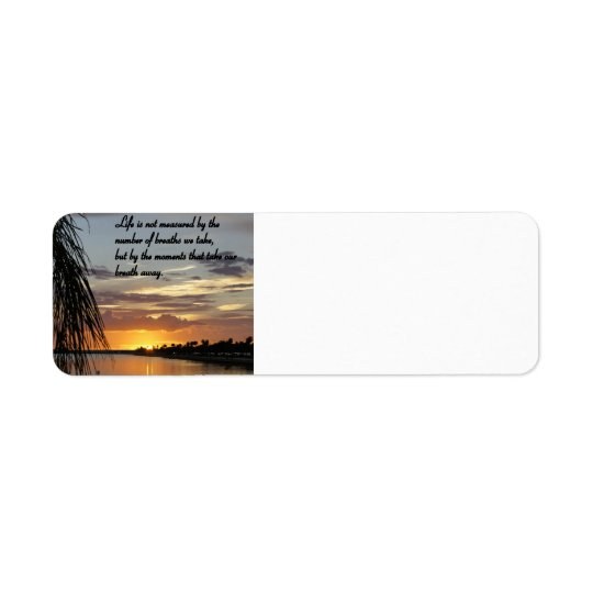 Beauty of Life Return Address Label