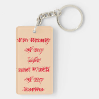 Beauty of my life Double-Sided rectangular acrylic key ring