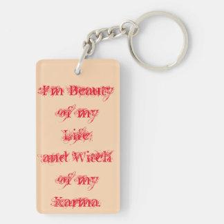 Beauty of my life Double-Sided rectangular acrylic key ring