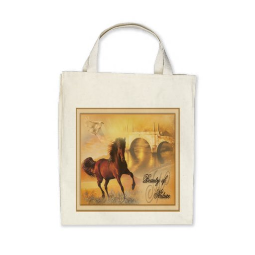 Beauty Of Nature - Organic Grocery Tote Canvas Bags