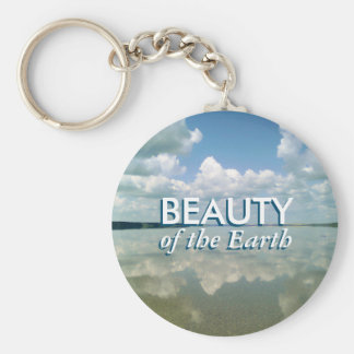 Beauty of the Earth Basic Round Button Key Ring
