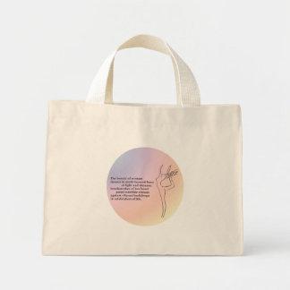 Beauty of Woman Mini Tote Bag