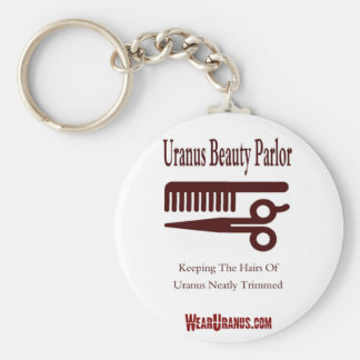Beauty Parlor Basic Round Button Key Ring