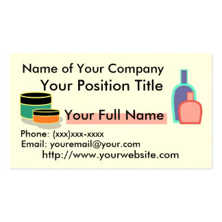 Beauty Product Customizable Business Card