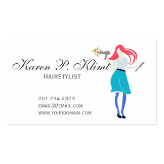 Beauty Professional Red Head Posh Couture Stylist Pack Of Standard Business Cards